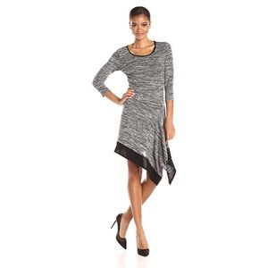 🆕 MSK Heather Gray Asymmetrical Sweater Dress